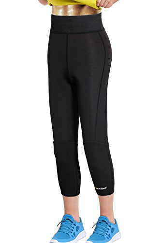 89205ae084 Junlan Women Neoprene Workout Pants Body Shaper Sweat Sauna Suit for Weight  Loss Exercise Leggings Hot