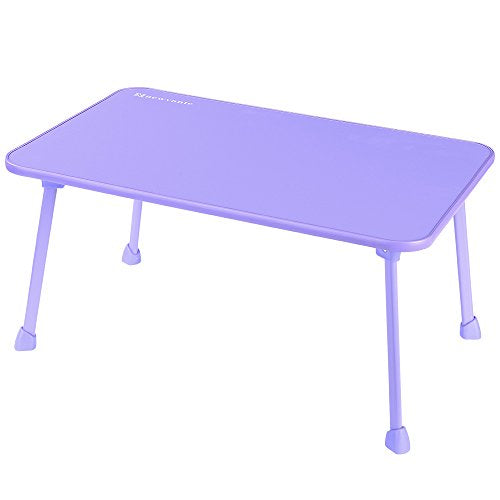 Laptop Bed Tray NNEWVANTE Laptop Desk for Bed Sofa Lap Desk Foldable Portable Standing Outdoor Camping Table, Breakfast Reading Tray Holder for Couch Floor Students Young Color(Purple)