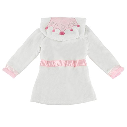Puseky Baby Girls Princess Crown Lace Dressing Gown Bath Robe ...