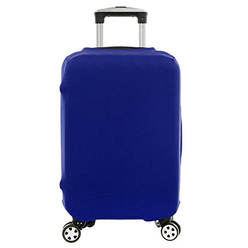 Wellbeing Travel Luggage Cover Spandex Elastic Suitcase (M, Blue)