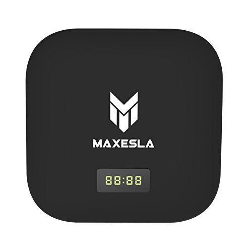 [2017 New Arrivals] Maxesla S905X Android TV BOX, MAX-S 4K Android 6.0 Amlogic Bluetooth 4.1 Airplay/Miracast Internet OTA Update TV Stick WIFI Smart Android Box LED Time Indicator [2GB/16GB]