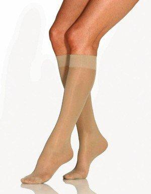 BSN Medical Jobst Women's Ultrasheer 8-15 mmHg Knee High Closed Toe Support Stocking (Small, Silky Beige)