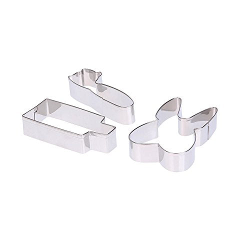 3pcs Stainless Steel Cake Mold Baking tools Cookie Cutter Biscuit Mold stainless steel sugarcraft cake Decorating mould