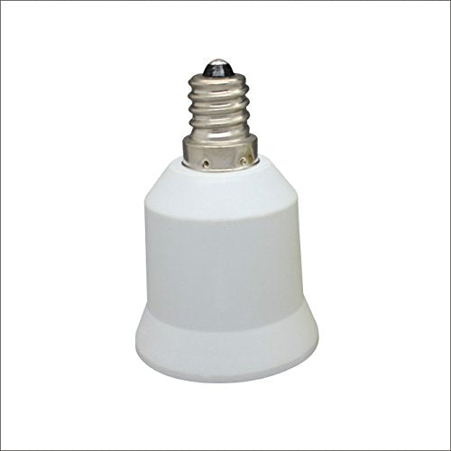 Onite 6pcs E12 to E26 / E27 Adapter - Converts Chandelier Socket (E12) to fit your Medium Socket (E26/E27) Bulb