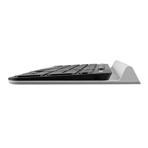 Logitech K780 Multi-Device Wireless Keyboard for Computer, Phone and Tablet  – Logitech FLOW Cross-Computer Control Compatible - White Version