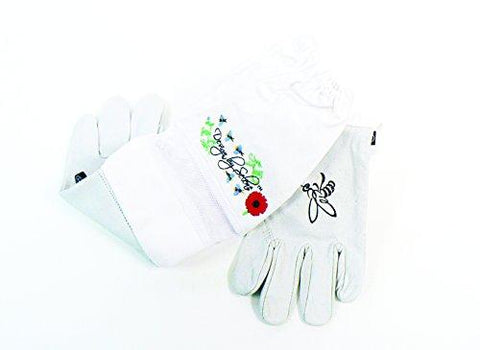 Pigeon Mountain Trading Company Women's Ventilated Beekeeper Gloves for Beekeeping (Medium)