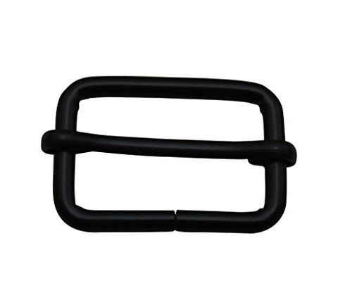 "Ailisi Metal Black Rectangle Buckle with Slider Bar 1.25"" X 0.8"" Inside Dimensions Loop Ring Belt Strap Keeper Pack of 6"