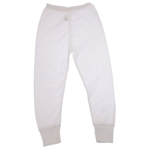 FLOSO Unisex Childrens/Kids Thermal Underwear Long Johns/Pants (Hip: 21.5 inch (Age 6-8)) (White)