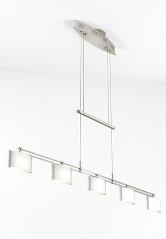 "Holtkoetter 5515 SN GB50 Halogen Low-Voltage Contemporary Chandelier, Satin Nickel with B-50 Glass, 9"" x 46.75"" x 36.5"""