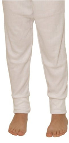 Octave Boys Thermal Underwear Long Johns/Pants [12/13 Years, White]