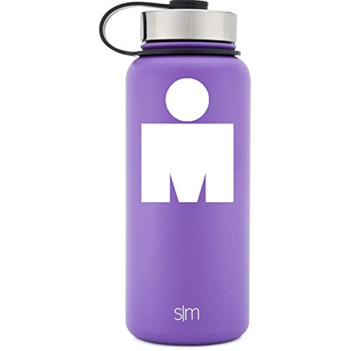 M Dot Ironman White Vinyl Decal for Water Bottles, Drinkware, Vehicles, or Electronics