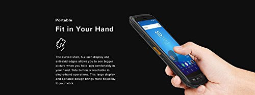 Archer@ Enterprise Handheld Mobile Terminal With Integrated 2D QR Bar code  Scanner + Camera + NFC, Android 6 0, WIFI, Bluetooth & 4G LTE Smart Phone