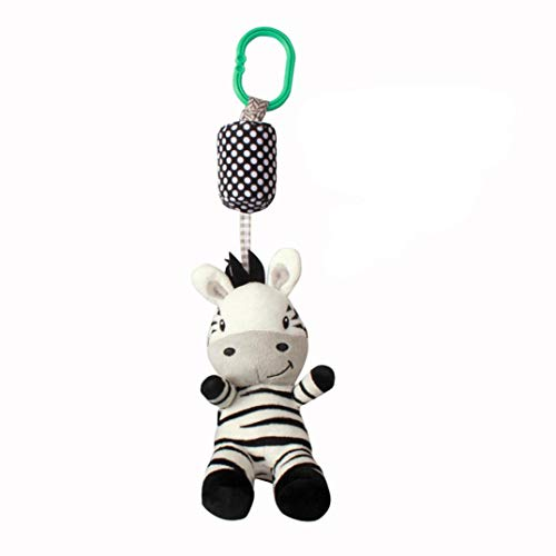 Baby Musical Bed Bell Comfort Toy Cute Animal Rattles Soft Plush Doll Crib Mobile Rotation Bells Stroller Hanging Rotating Rattles Dolls Infant Bedding for Kids Newborn by Pausseo (B)