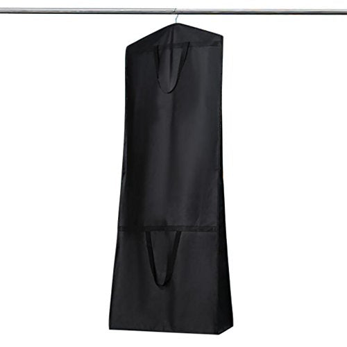 b19e6b0a3adc Breathable Wedding Dress Garment Bag Dust Cover Storage Travel Bag Foldable  Protective Cover for Wedding Gowns, Bridal Gown, Evening Gown (Black)