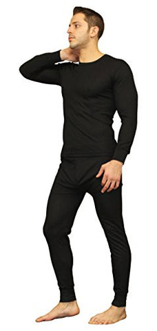Moet Fashion Men's Ultra Soft Thermal Underwear Long Johns Set With Fleece Lined