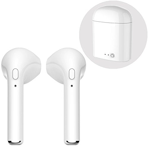 Fuhui Bluetooth Headphones, True TWS Wireless Headset Cordless Sport  Earbuds with Microphone for iPhone X 8 8plus 7 7plus 6S Samsung Galaxy S7  S8 IOS