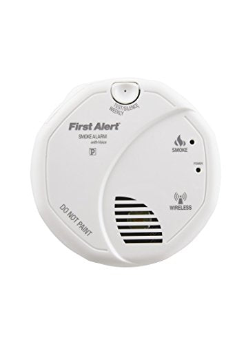 First Alert SA511CN2-3ST Interconnected Wireless Smoke Alarm with Voice Location, Battery Operated, Pack of Two