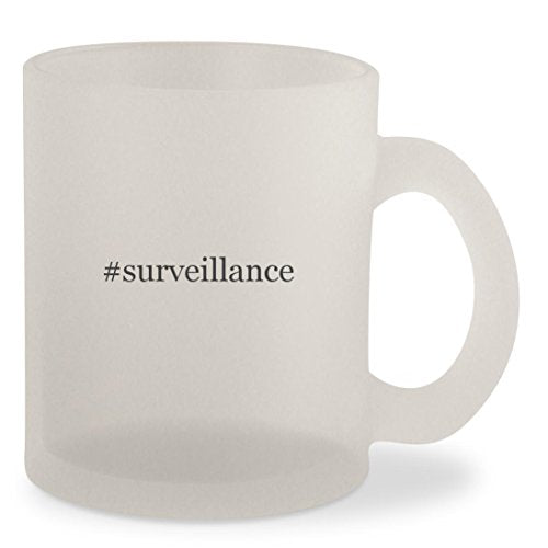 #surveillance - Hashtag Frosted 10oz Glass Coffee Cup Mug