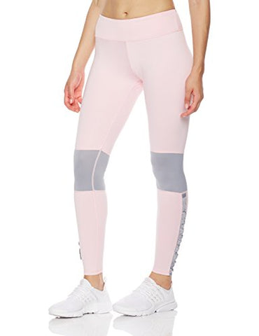 Mint Lilac Women's Yoga Leggings Pants with Mesh Panel and Ruffles and Ruffles