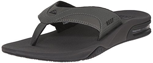 Reef Fanning Mens Sandals Bottle Opener Flip Flops For Men,Grey/Black,15 M US