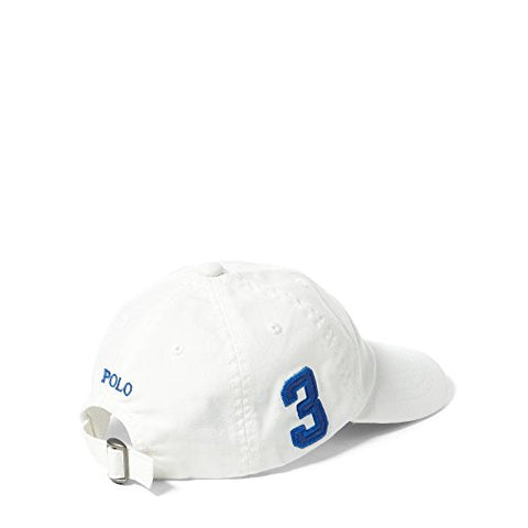 Ralph Lauren Polo Boys' 8-20 Big Pony Hat (8/20, White/Blue)