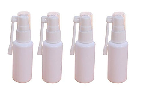 6PCS 360 Degree Revolve Plastic Spray Bottles-Refillable Cosmetic Makeup Perfume Storage Container Jars Pot With Nasal Sprayer(White) (10ml)