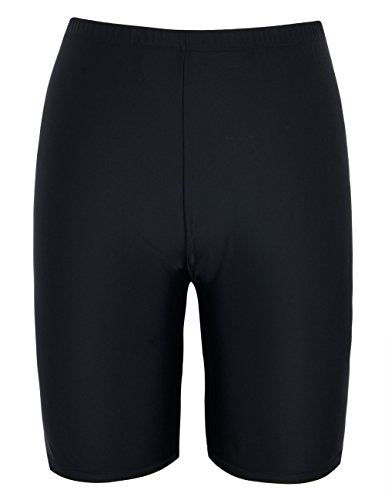Firpearl Women's UPF50+ Sport Board Shorts Swimsuit Bottom Skinny Capris Swim Shorts