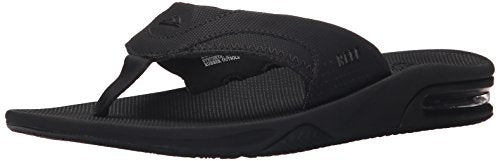 Reef Fanning Mens Sandals Bottle Opener Flip Flops For Men,All Black,12 M US