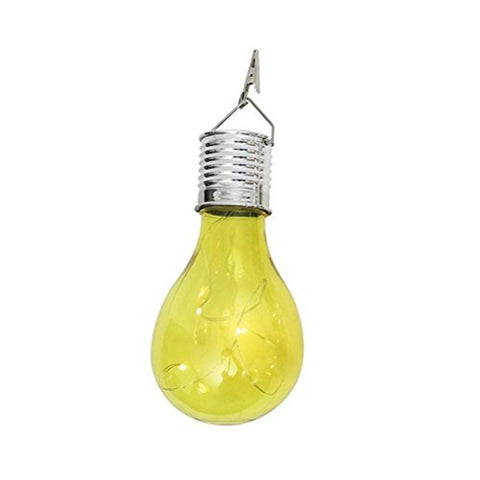 Solar Light Bulb,LtrottedJ Waterproof Solar Rotatable Outdoor Garden Camping Hanging LED Light ,Lamp Bulb BU (Yellow)