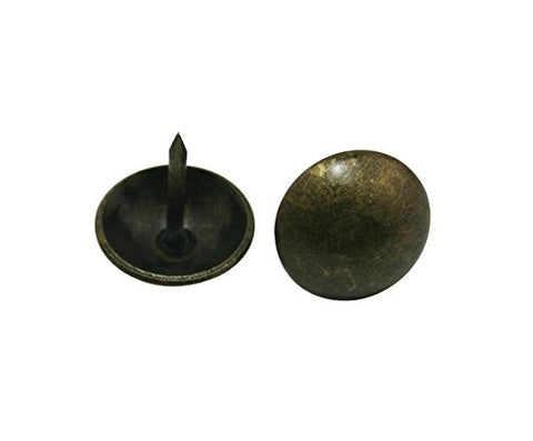 "Generic Round Large-headed Nail 0.63"" Diameter Color Antique Brass for Sofa Decoration Pack of 30"