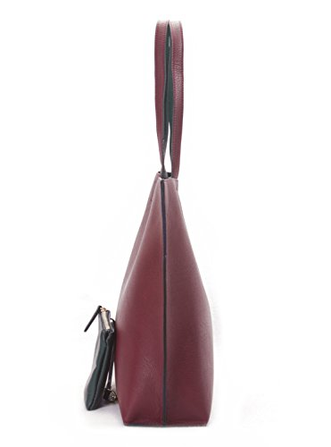 fa1614c5cfb6 Overbrooke Reversible Tote Bag, Red & Blue - Vegan Leather Womens Shoulder  Tote with Wristlet