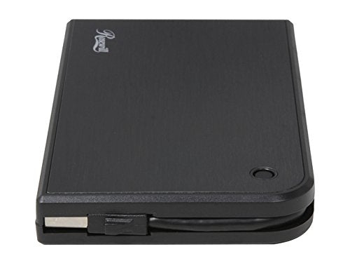 Hard Drive Enclosure 2.5 Inch SATA III to USB 3.0 Tool Free External Hard Drive Enclosure with Built-in USB Cable. Screw Free Portable HDD Enclosure with USB Cable Attached.
