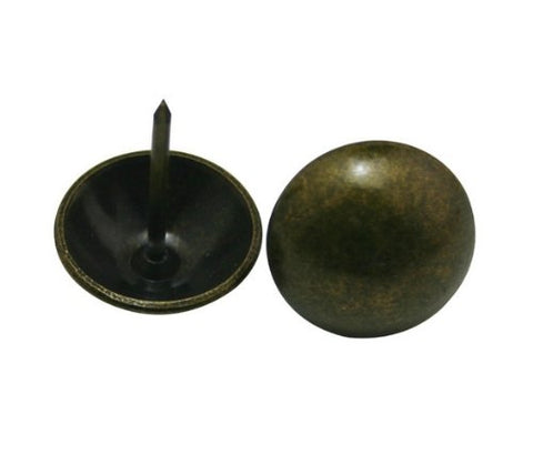 ". Metal Bubble Nails 0.8"" Diameter Color Antique Brass for Sofa Decoration Pack of 20"