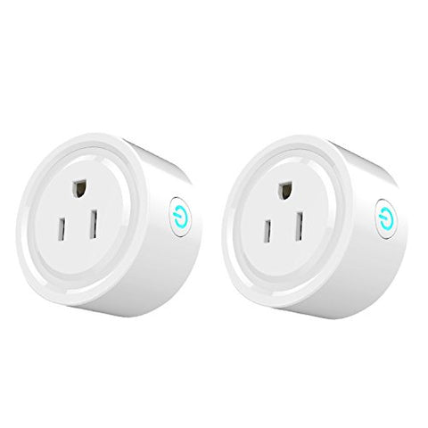 Smart Electrical Outlets,Smart Socket, Wifi Smart Plug Compatible with Amazon Alexa Google Home IFTTT,10A Wireless Socket Outlet Remotely Controls your Devices from anywhere[2 Pack]