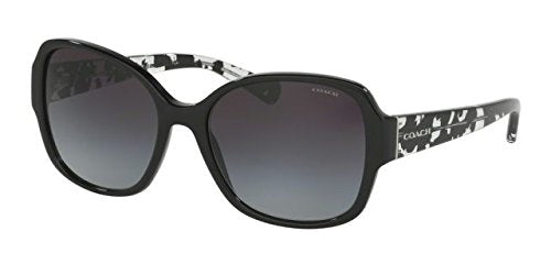 002d015a49227 Coach Womens Sunglasses (HC8166) Black Grey Acetate - Non-Polarized - 58mm