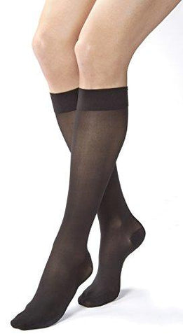 Jobst Ultrasheer 20-30 Knee High Closed Toe Womens Stockings Classic Black X-Large