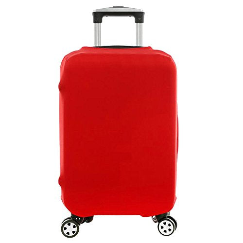 Wellbeing Travel Luggage Cover Spandex Elastic Suitcase Protector Bag (M, Red)