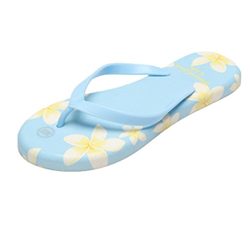 Women Sandals , Amiley Summer Women Sandals Flip-Flops Sandy Beach Swimming Pool Bathroom Cooler Slippers Shoes (39, Blue)