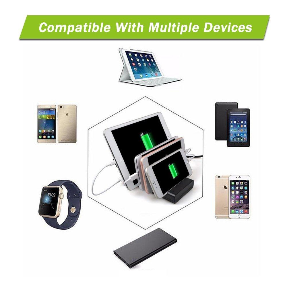 4 USB Ports Mobile Phone Charger Travel Charging Station Chargers Dock  Stand Holder Universal For Smart