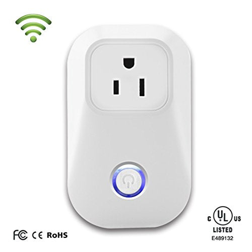 Wifi Smart Plug, VIVOSUN Smart Power Outlet with Timing Function - Wireless Remote Control Your Home Appliances via Free iOS/android APP [No Hub Required]