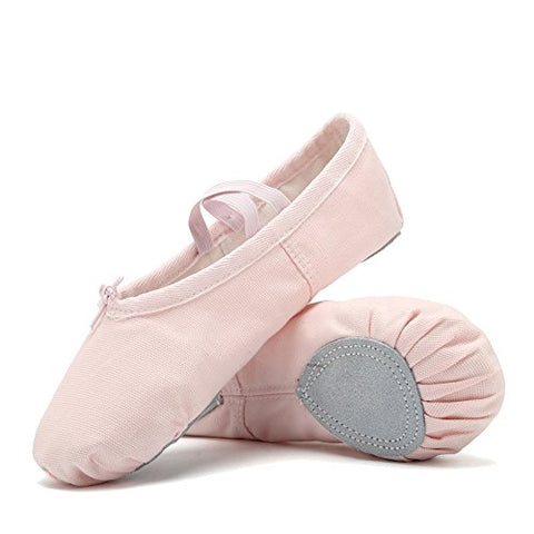 CIOR Ballet Slippers For Girls Classic Split-Sole Canvas Dance Gymnastics Yoga Shoes Flats(Toddler/Little Kid/Big Kid/Women) VTW01-2,Pink,35