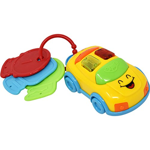 Baby Beep And Go Car Keys Keepsake Entertainer Electronic Key Ring Light Up Toy