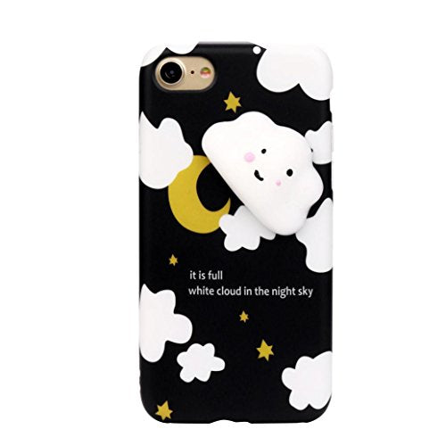 074a07207f ... Plus,iPhone 6/6s,iPhone 7 (iPhone 7, Black). Sikye Kawaii Squeeze  Squishies, 3D Cloud Soft Silicone Shell Case Cover Pressure-Relief Toy