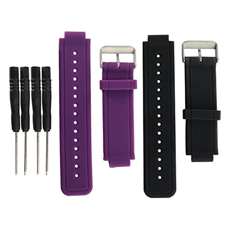 Replacement band for Garmin Vivoactive, Eway Purple Silicone Replacement Fitness Bands Wristbands with Two Screw Drivers for Garmin vivoactive GPS Smart Watch