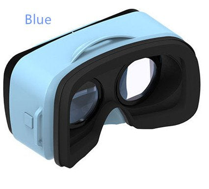 VRBOX Mini Virtual Reality Headset 3D Video Movie Game Glasses For IOS Android Smartphones (Blue)