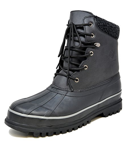DREAM PAIRS Men's Blazzer-1 Black Insulated Waterproof Winter Snow Boots Size 15 M US