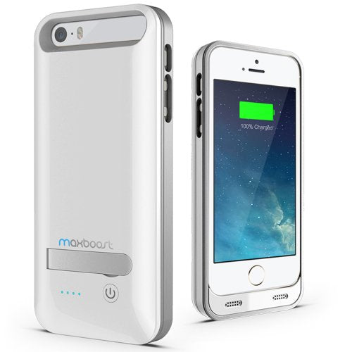 release date: ab3ef 42cf6 iPhone 5S Battery Case, iPhone 5 Battery Case - Maxboost Atomic S Portable  Charger for iPhone 5/5S [MFI Certified] External Protective 2400mAh Battery  ...