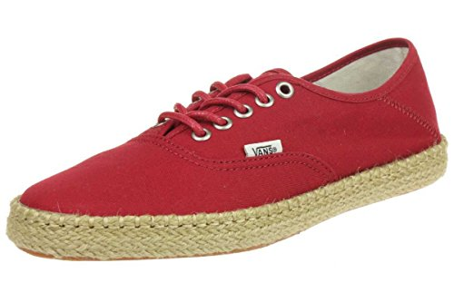 Vans Authentic ESP Women Sneaker Surf Siders Skaterschuhe Espandrillos, Shoe Size:EUR 40, Color Red