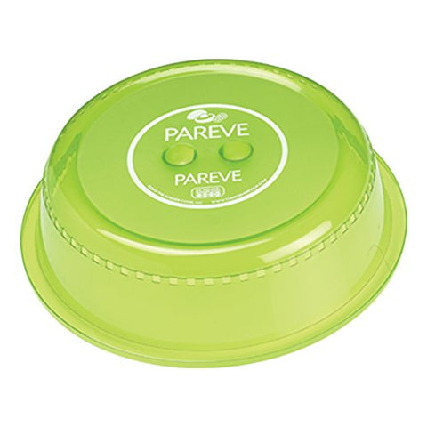 Parve Green Microwave Plate Cover – Food Safe Topper Prevents Splatter and Mess to Keep Microwave Clean - Color Coded Kitchen Tools by The Kosher Cook