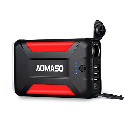 42000mAh Portable Charger All-purpose External Battery Power Bank, Aomaso 5.5A 3 USB Output and 15A Cigar Lighter Output with LED Emergency for Car Use, Phones, Laptop, Outdoor UAV and Pokémon GO